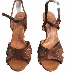 Naya Gemini Coffee Bean Wedge Sandals
